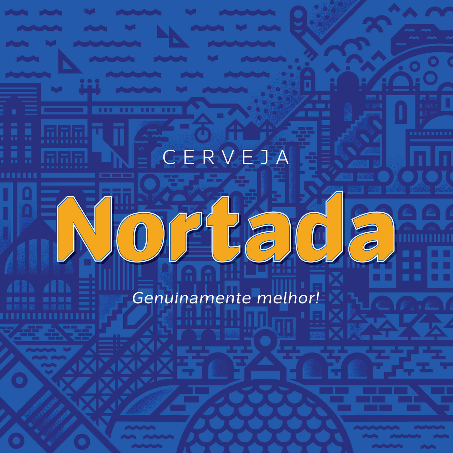 Cerveja Nortada Brand Poster Illustration