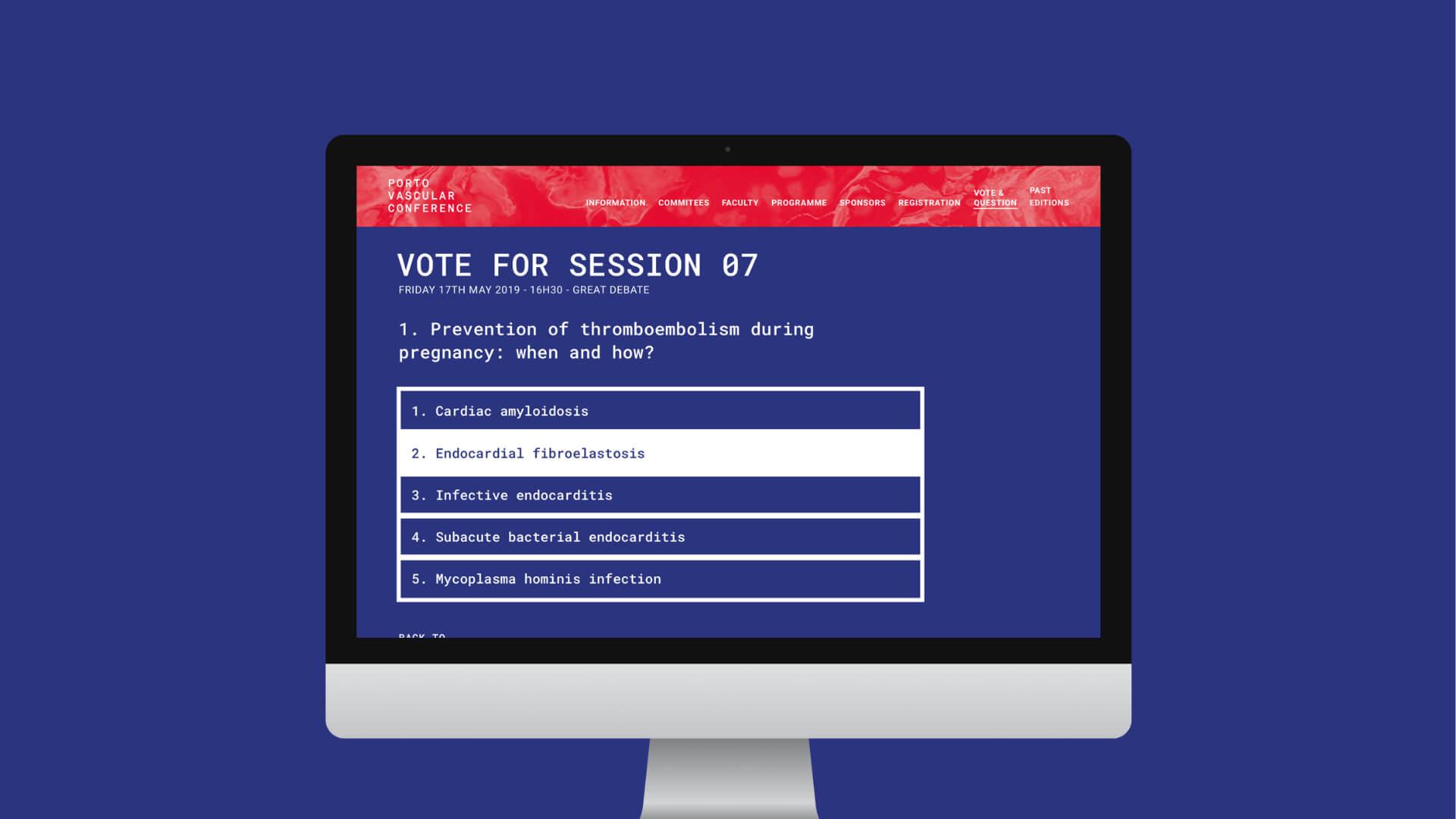 Porto Vascular Conference 2019   web app + site - studium